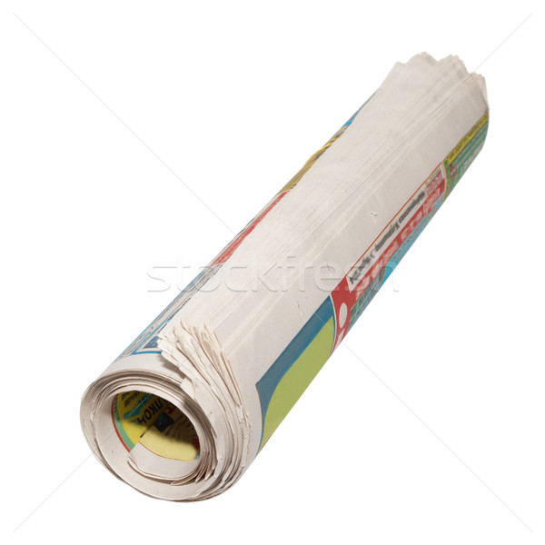 Rolled newspapers isolated on white. Stock photo © vapi