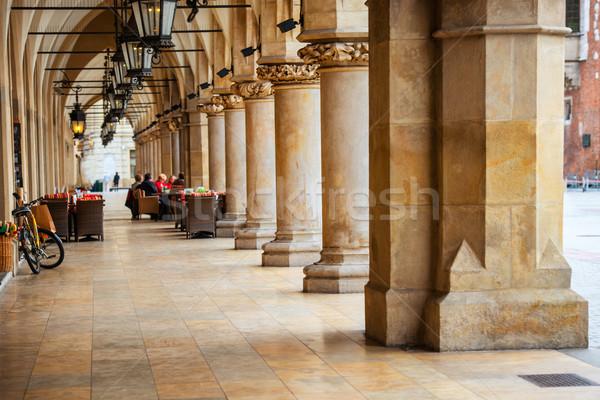 átjáró gótikus előcsarnok oszlopok fő- piac Stock fotó © vapi
