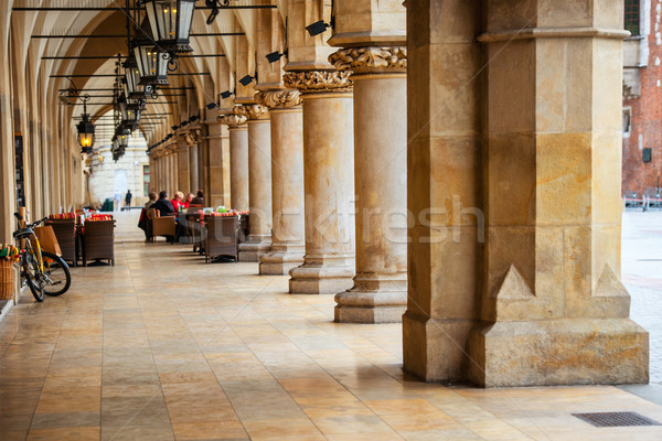 Pasaje gótico sala columnas principal mercado Foto stock © vapi