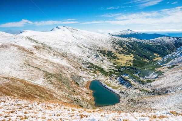 Mountains with blue lake Stock photo © vapi