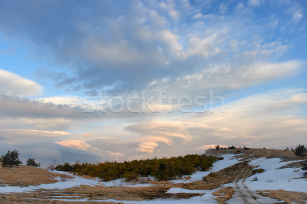 Lenticular clouds in the mountains Stock photo © vapi
