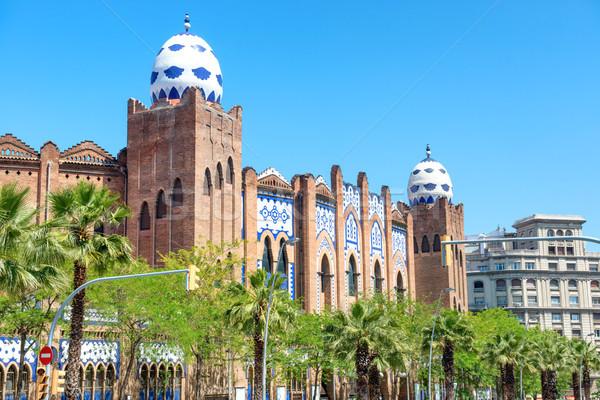 Monumental Barcelona vista calle fachada España Foto stock © vapi