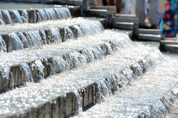 Acqua giù scale città parco natura Foto d'archivio © vapi