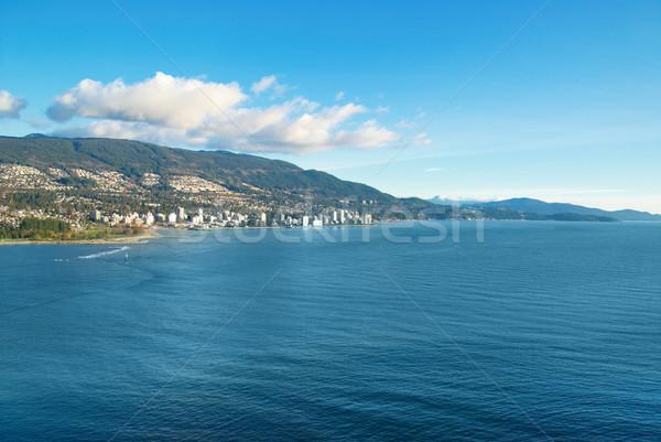 Mar Vancouver Canadá cidade outro banco Foto stock © vapi
