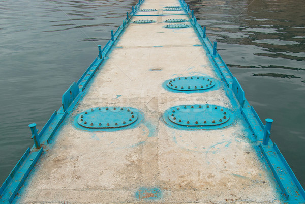 Mooring with hatches and sea. Stock photo © vapi