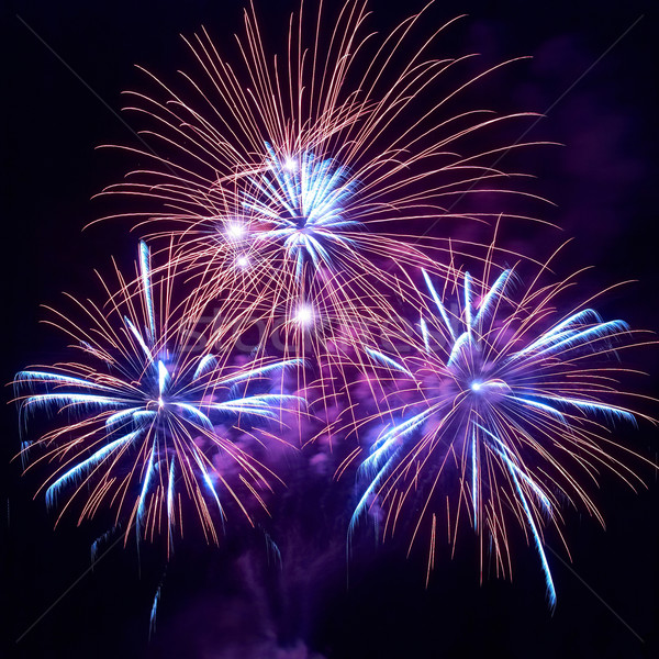 Stock photo: Beautiful fireworks