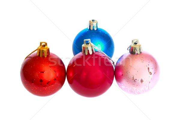 Four colored Christmas bauble. Stock photo © vapi