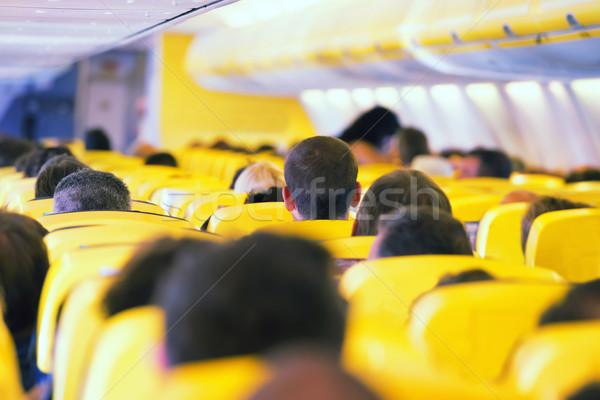 Gangpad binnenkant vliegtuig interieur passagiers business Stockfoto © vapi