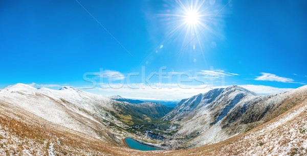 Panorama of white mountains Stock photo © vapi