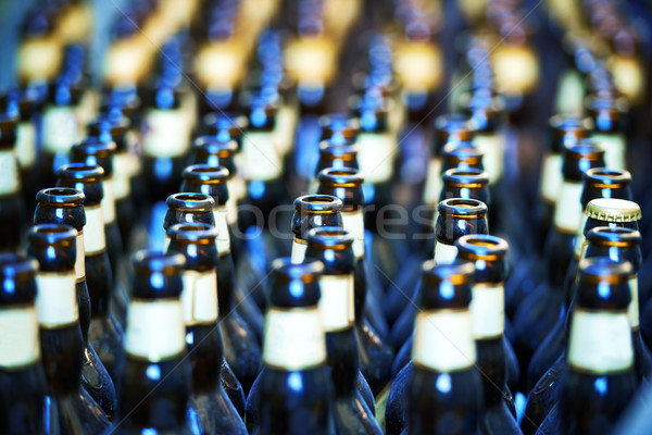 Close up of many bottles of beer Stock photo © vapi