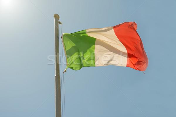 Waving Italian flag  Stock photo © vapi