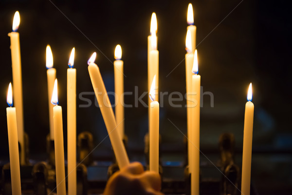 Candles in the church Stock photo © vapi