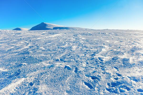 White winter mountains in snow Stock photo © vapi