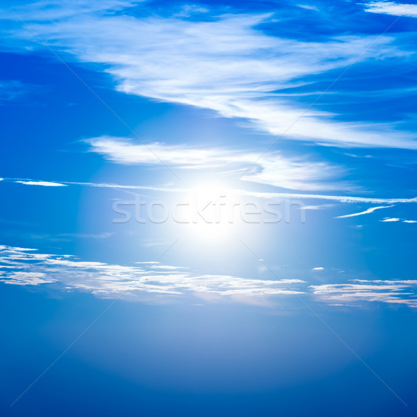 Sunset in the sky with blue clouds Stock photo © vapi