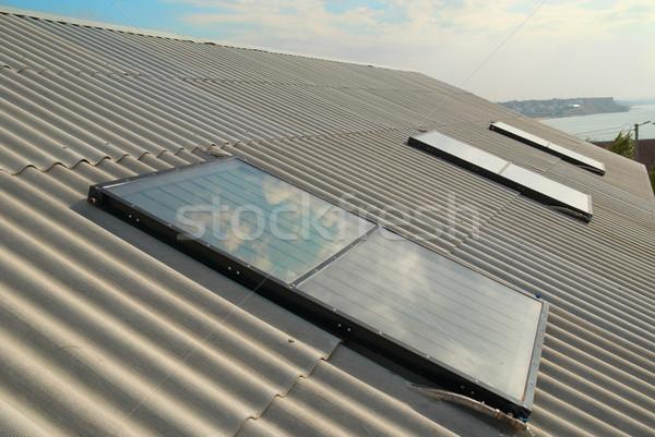 Solar water heating system Stock photo © vapi