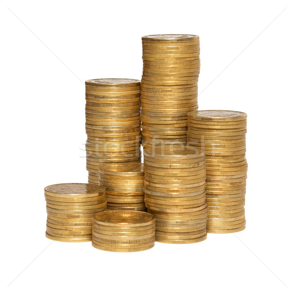 Column of golden coins Stock photo © vapi