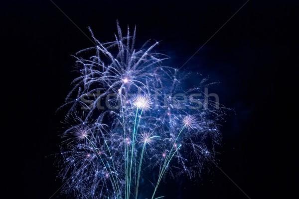 красивой фейерверк черный небе счастливым свет Сток-фото © vapi