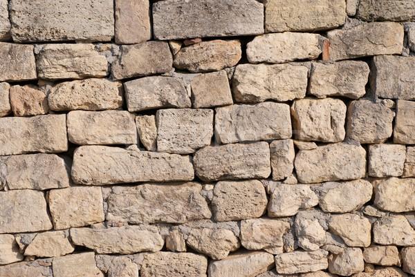 Muro de piedra ladrillo pueden textura edificio fondo Foto stock © vapi