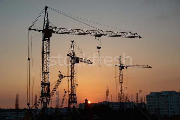 Industrial cranes Stock photo © vapi