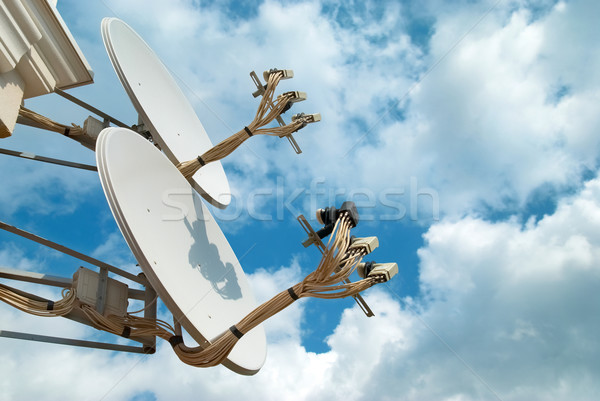 Satélite búsqueda senal cielo azul tecnología radio Foto stock © vapi