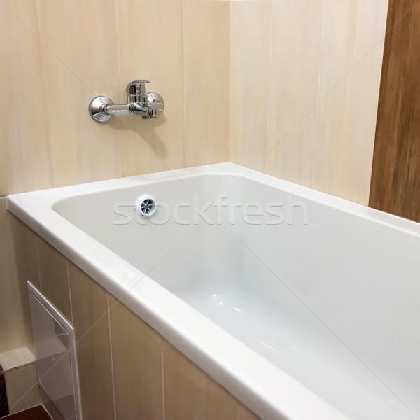 Bianco lusso vasca da bagno bagno ceramica interni Foto d'archivio © vapi