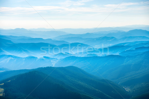 Landscape with blue mountains Stock photo © vapi