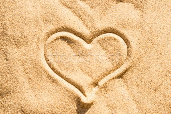 Hart zand teken tekening strandzand strand Stockfoto © vapi