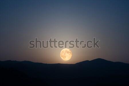 Big moon rising on night sky Stock photo © vapi