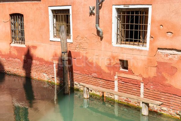 Domu Wenecja kanał wody budynku podróży Zdjęcia stock © vapi