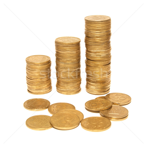 Three columns of gold Stock photo © vapi