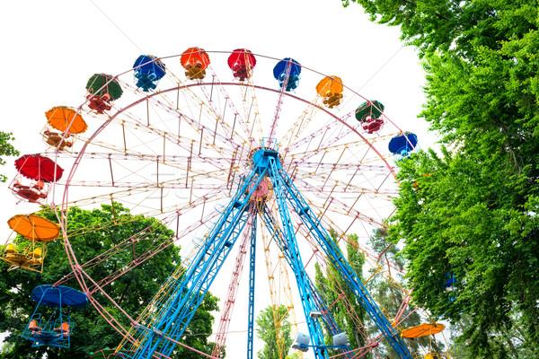 Ferris wheel isolated on white Stock photo © vapi