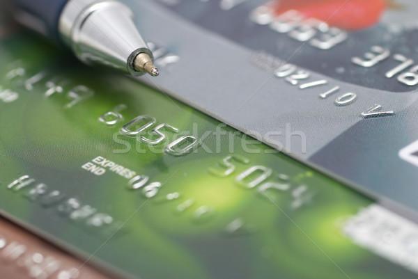 クレジットカード ペン 金融 ビジネス 抽象的な 背景 ストックフォト © vapi