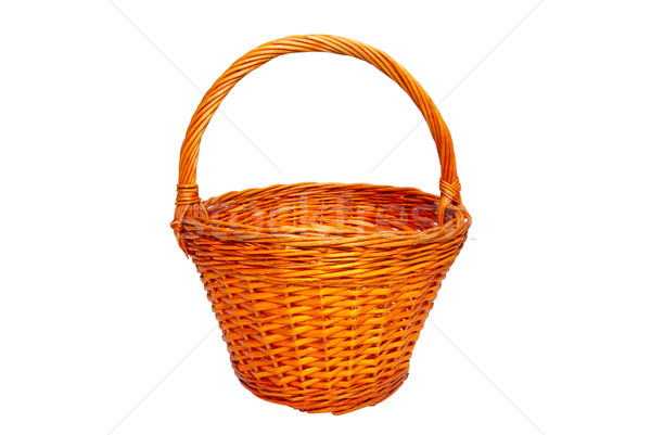 Wicker basket isolated on white. Stock photo © vapi