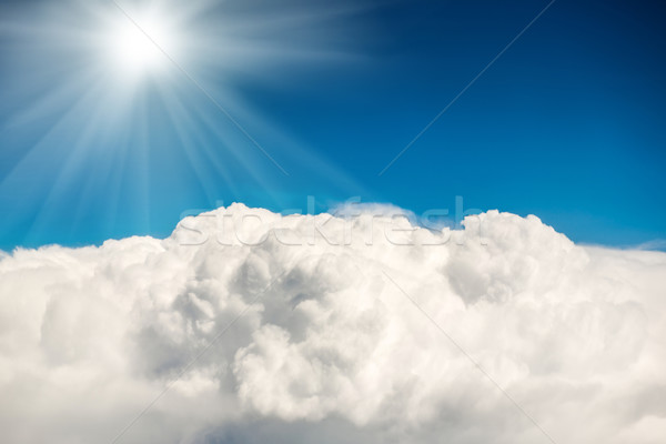 Blauw wolken hemel natuurlijke licht zomer Stockfoto © vapi