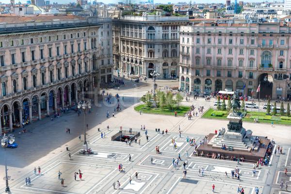 Praça milan telhado famoso catedral Foto stock © vapi