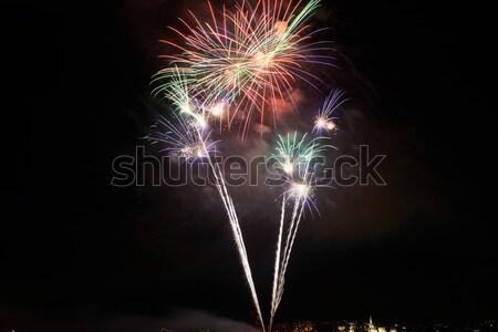 Red colorful fireworks Stock photo © vapi