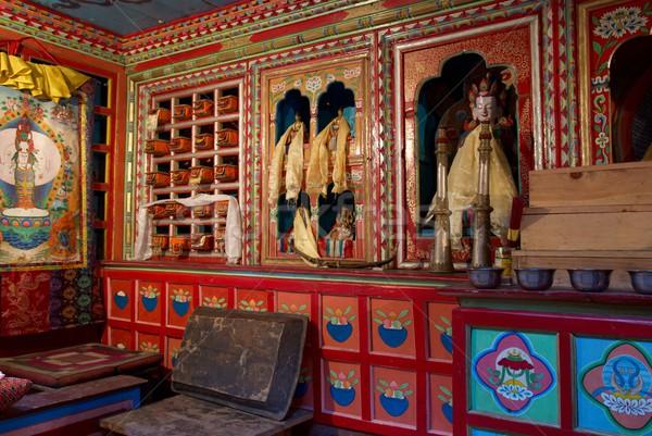 Tempio tibet Nepal muro arte Foto d'archivio © vapi
