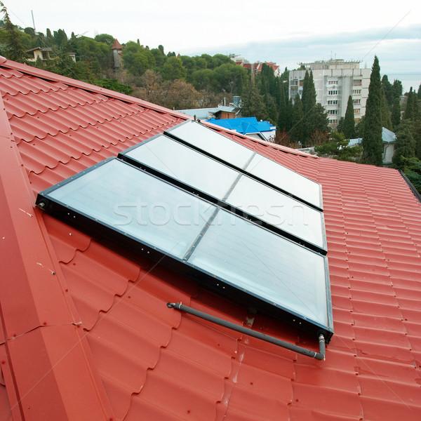 Solar water heating system. Stock photo © vapi