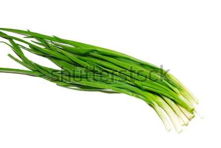 Green fresh onions isolated on white. Stock photo © vapi