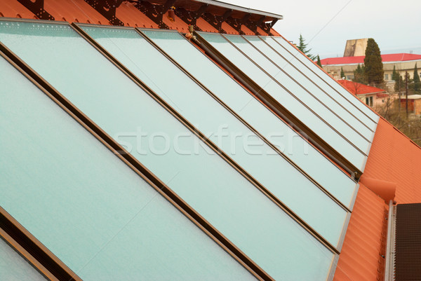 Solar water heating system Stock photo © vapi