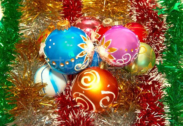 Karácsony dekoráció fa boldog természet üveg Stock fotó © vapi