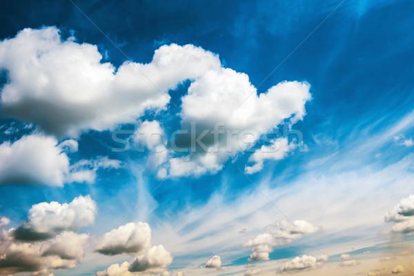 白 ふわっとした 雲 青空 自然 風景 ストックフォト © vapi
