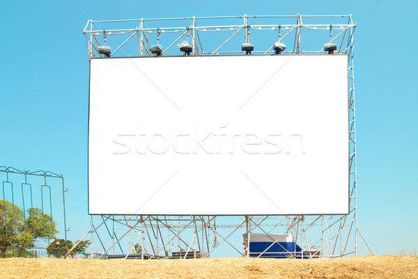 пусто Billboard Blue Sky дороги телевидение пространстве Сток-фото © vapi