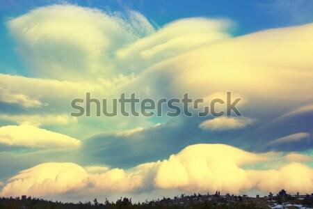 すごい 表示 平面 オレンジ 空 日没 ストックフォト © vapi