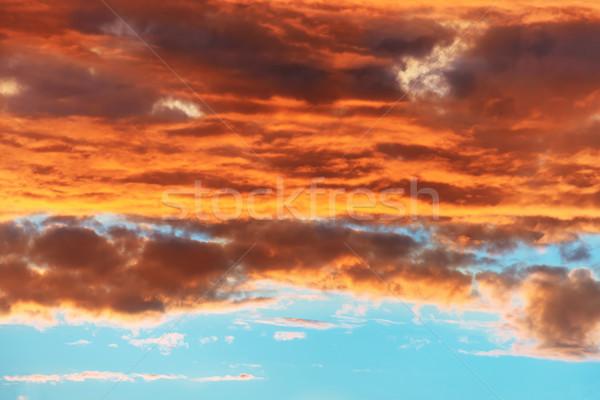 Orange and blue dramatic sky Stock photo © vapi