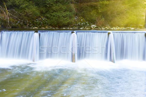 滝 カスケード 晴れた ストリーミング ダウン 緑 ストックフォト © vapi