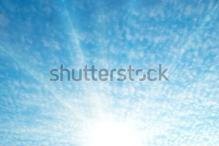 небе облака Blue Sky белый Восход солнце Сток-фото © vapi