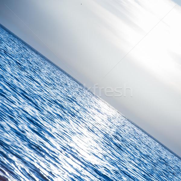 Sunset above the sea Stock photo © vapi