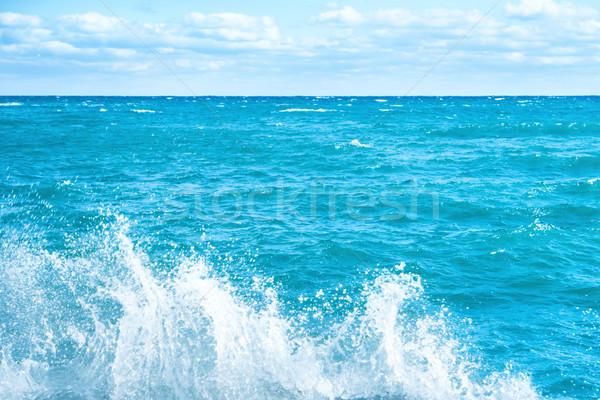 Groot golf Blauw zee surfen schuim Stockfoto © vapi
