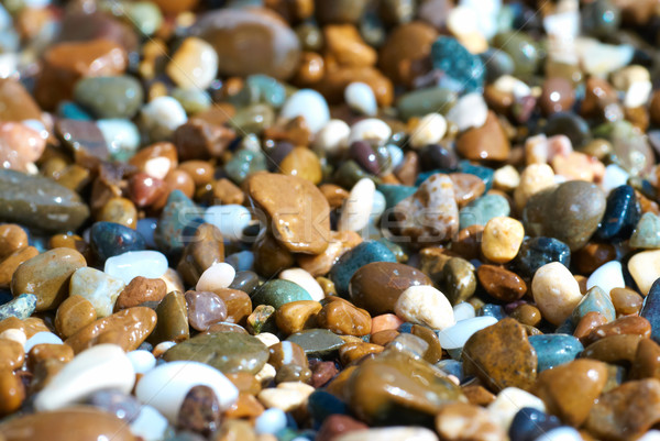カラフル 砂利 テクスチャ 石 自然 庭園 ストックフォト © vapi
